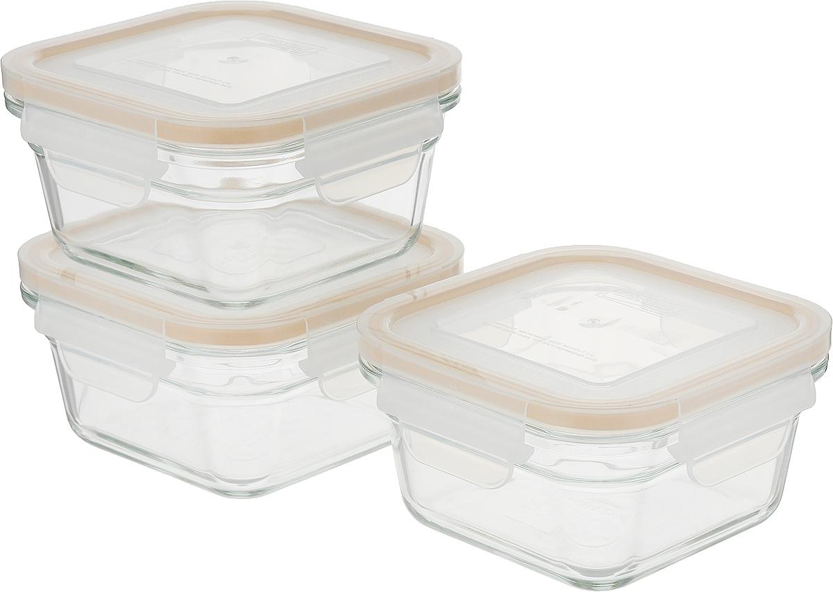 Контейнер пищевой GL-1108, прозрачный набор контейнеров с гибким дном для замораживания питания в наборе 4 контейнера под