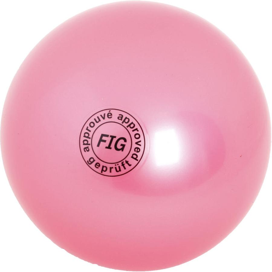 Мяч гимнастический Larsen, цвет: розовый, диаметр 19 см мяч гимнастический larsen цвет синий диаметр 19 см