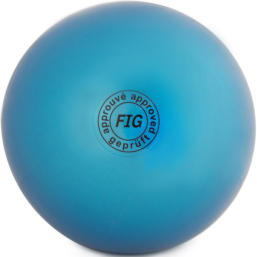 Мяч гимнастический Larsen, цвет: синий, диаметр 15 см мяч для художественной гимнастики indigo силиконовый цвет разноцветный диаметр 15 см