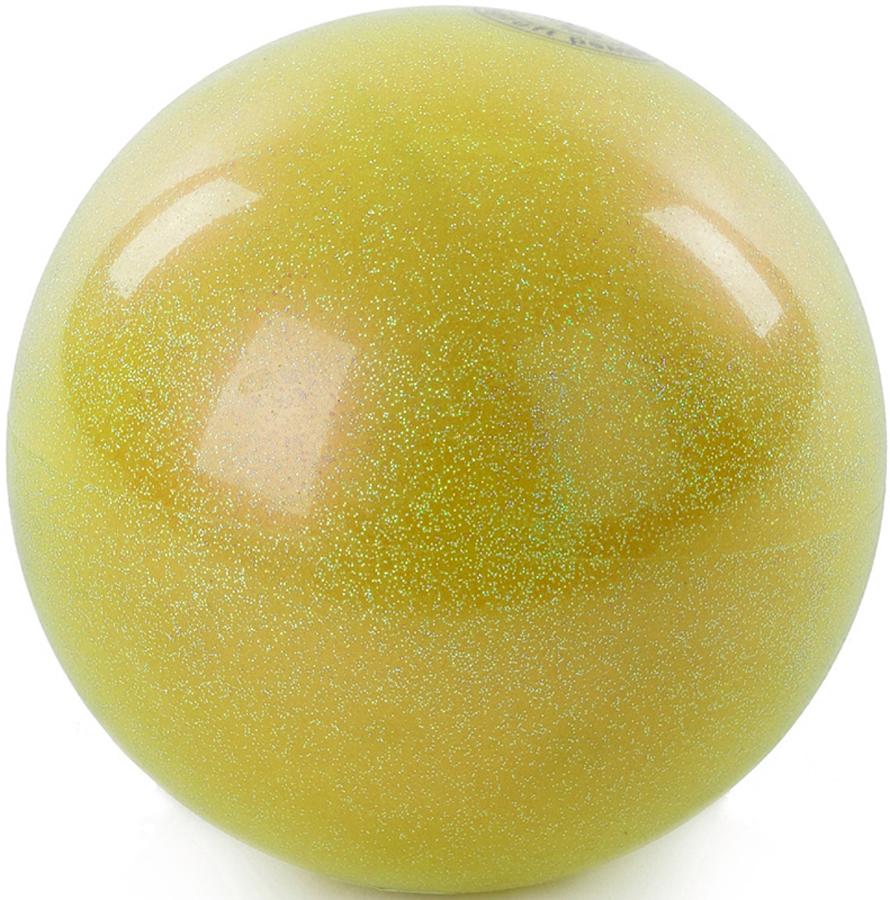 Мяч гимнастический Larsen, цвет: желтый, диаметр 15 см мяч для художественной гимнастики indigo силиконовый цвет разноцветный диаметр 15 см
