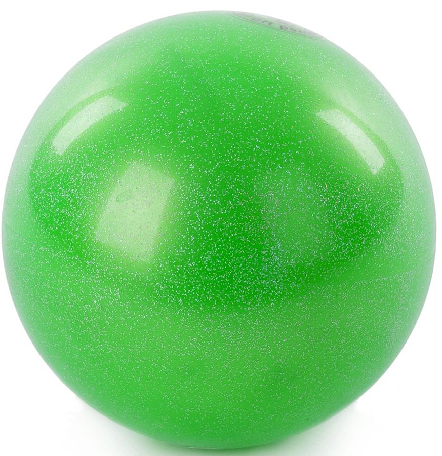Мяч гимнастический Larsen, цвет: зеленый, диаметр 15 см мяч для художественной гимнастики indigo силиконовый цвет разноцветный диаметр 15 см