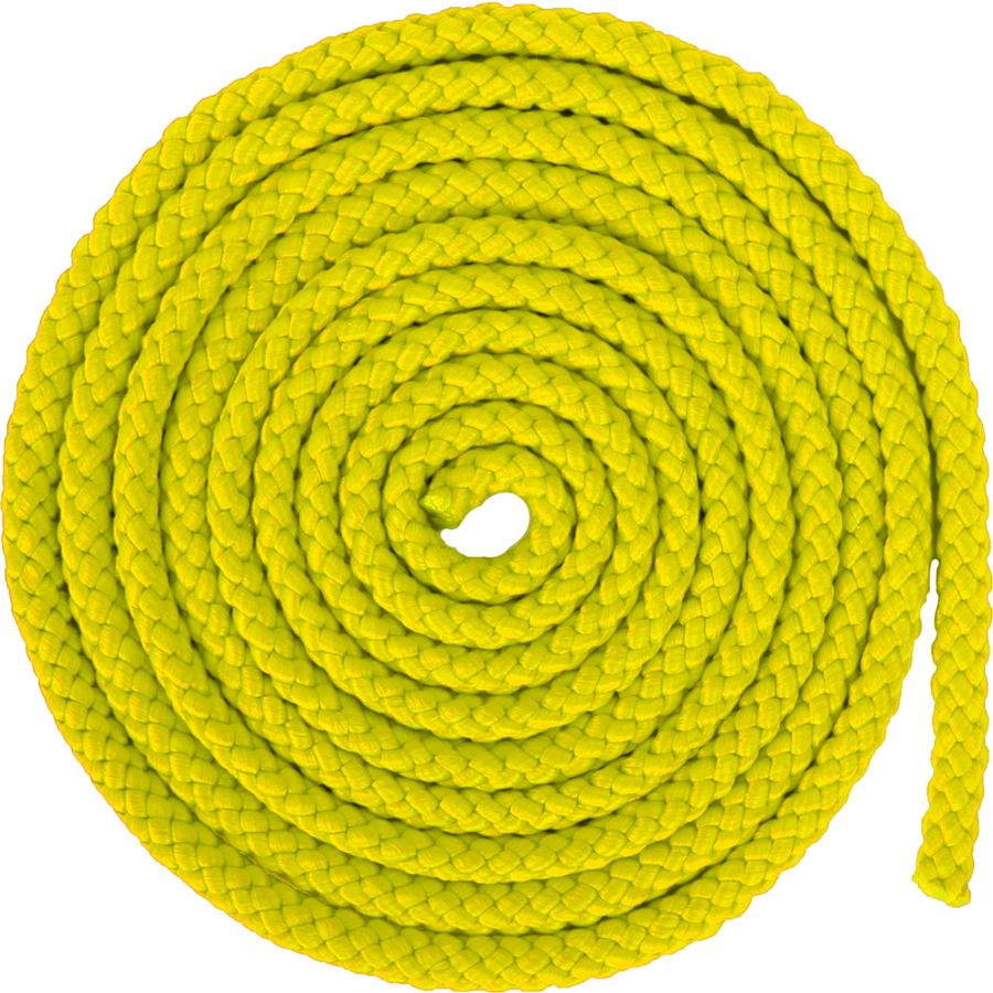 Скакалка гимнастическая Larsen, цвет: желтый, 3 м детская скакалка 2 3 м в ассортименте