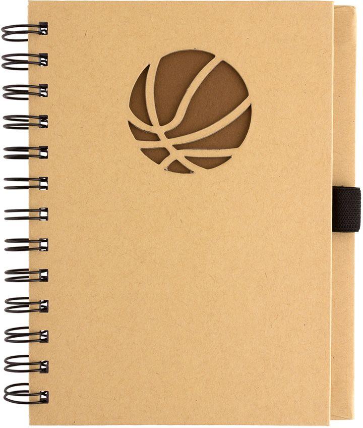 Fiteko Тетрадь Мяч баскетбольный 70 листов в клетку цвет светло-коричневый RPT-02