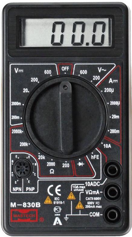 Мультиметр цифровой Mastech M830B