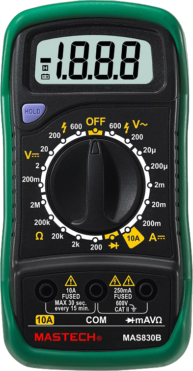 Мультиметр цифровой Mastech MAS830B
