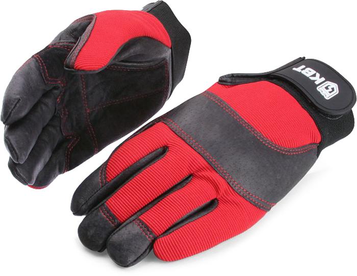 Перчатки монтажника КВТ С-33. Размер L перчатки рабочие кожа спандекс l