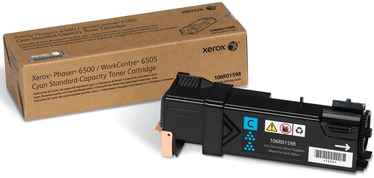 Картридж Xerox 106R01598, голубой, для лазерного принтера, оригинал