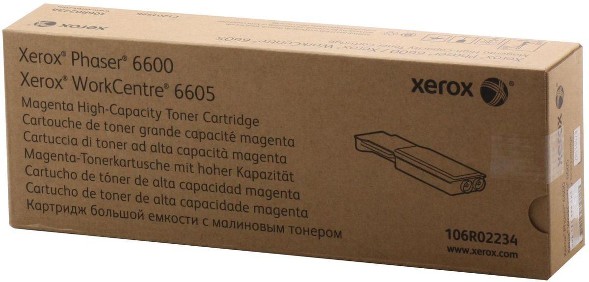 Картридж Xerox 106R02234, красный, для лазерного принтера, оригинал