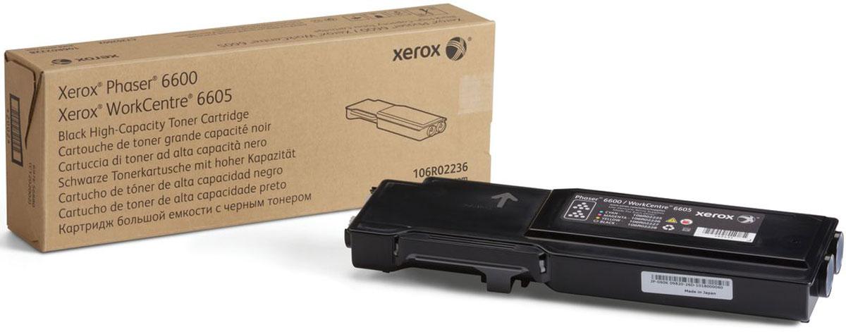 Картридж Xerox 106R02236, черный, для лазерного принтера, оригинал