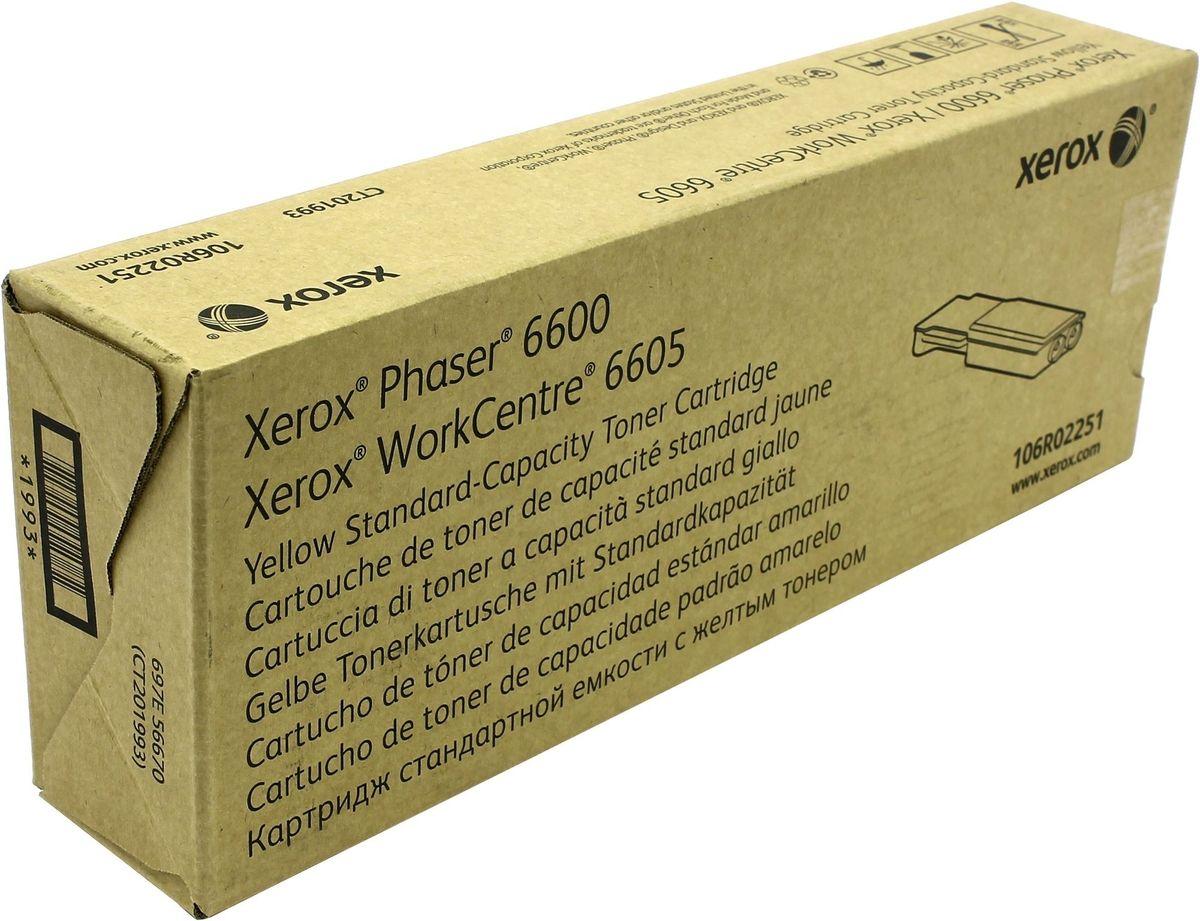 Картридж Xerox 106R02251, желтый, для лазерного принтера, оригинал