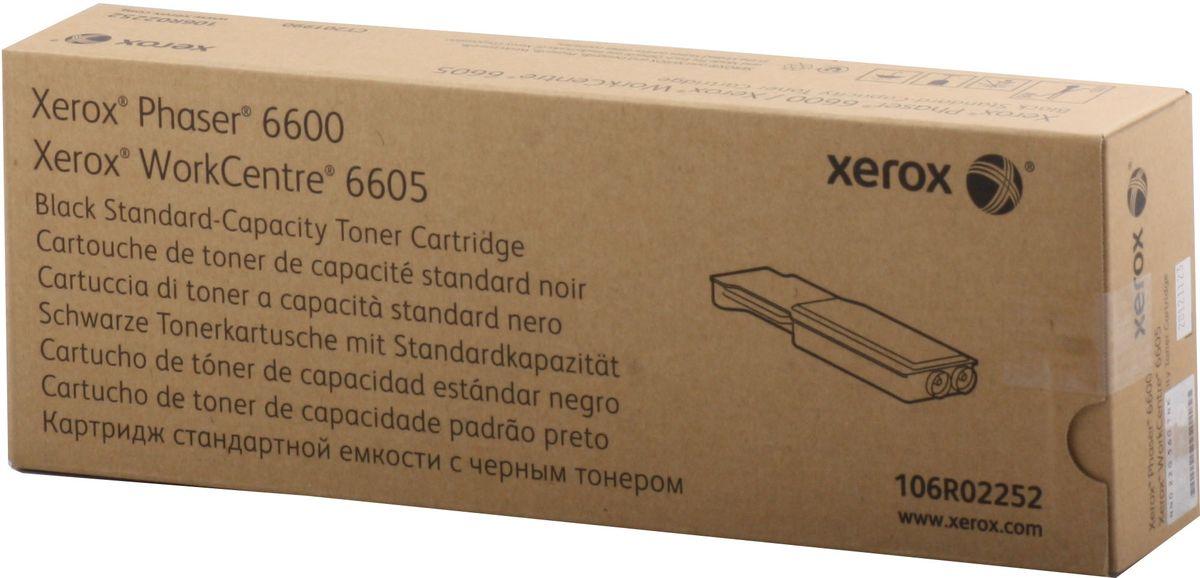 Картридж Xerox 106R02252, черный, для лазерного принтера, оригинал