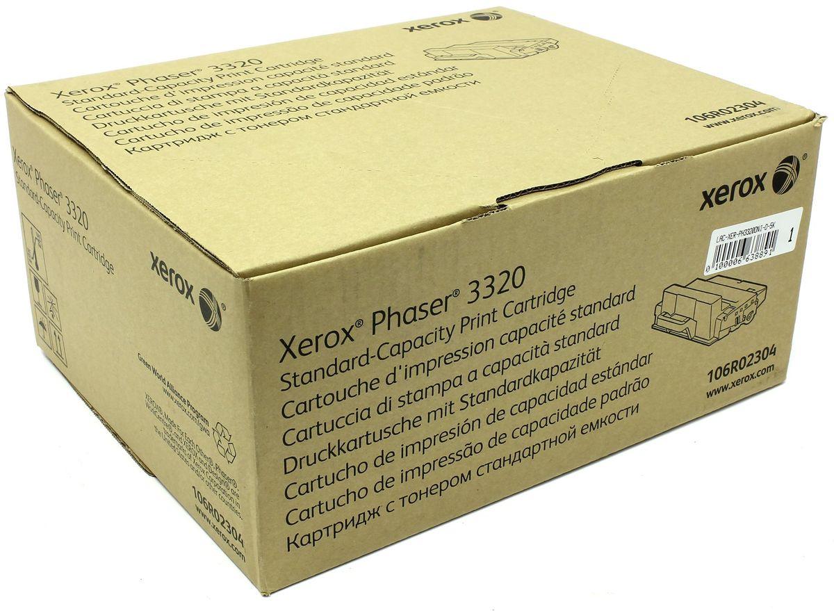 Картридж Xerox 106R02304, черный, для лазерного принтера, оригинал