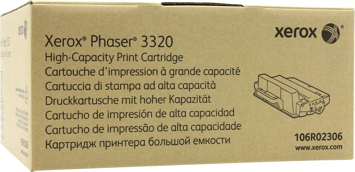 Картридж Xerox 106R02306, черный, для лазерного принтера, оригинал