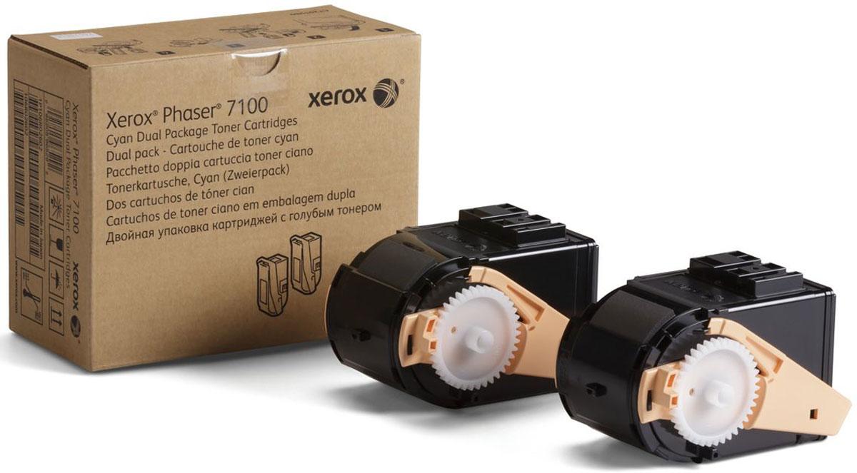 Картридж Xerox 106R02609, голубой, для лазерного принтера, оригинал