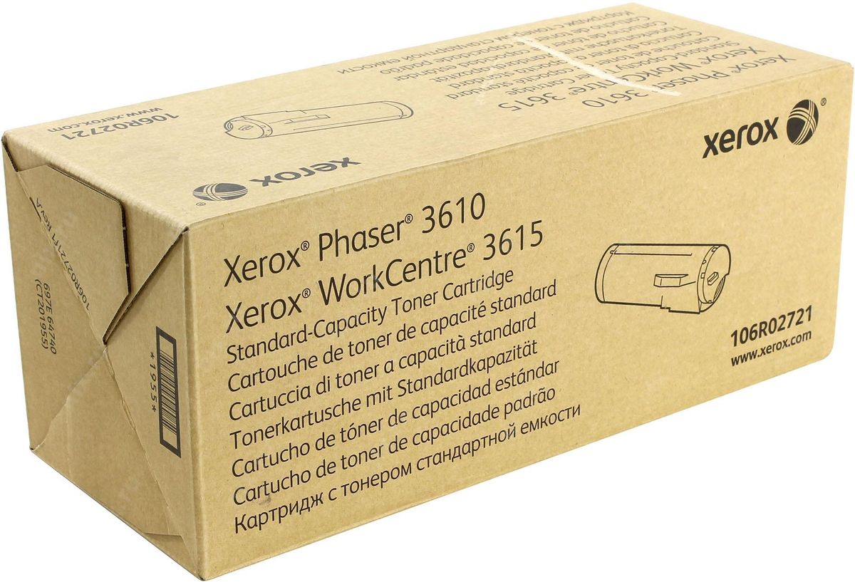 Картридж Xerox 106R02721, черный, для лазерного принтера, оригинал