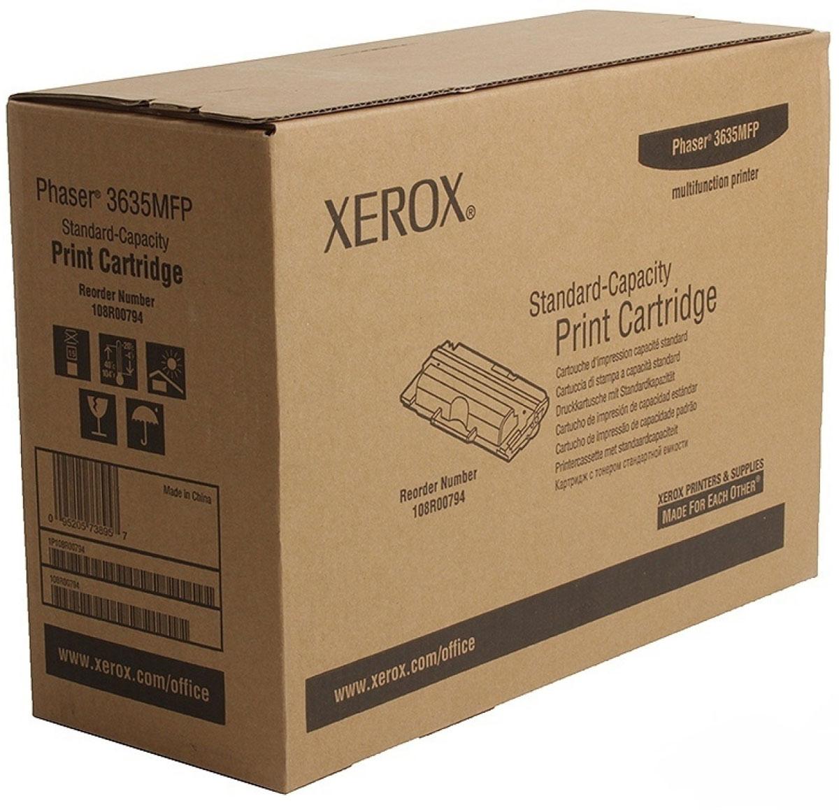 Картридж Xerox 108R00794, черный, для лазерного принтера, оригинал