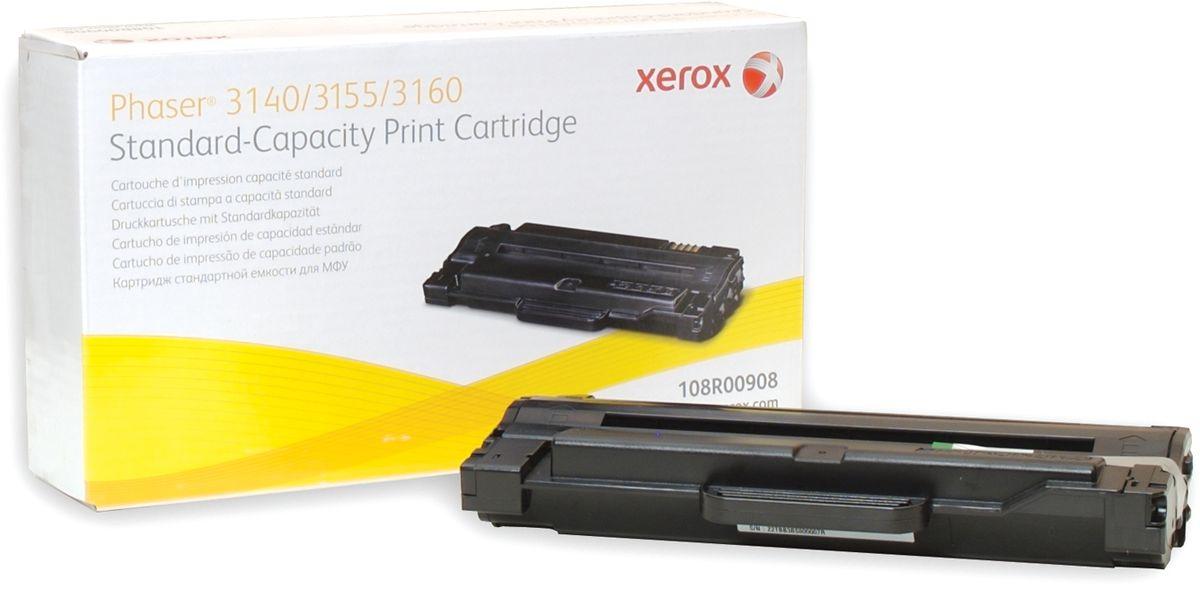 Картридж Xerox 108R00908, черный, для лазерного принтера, оригинал