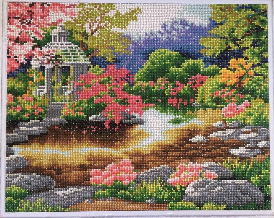 """Набор для создания картины со стразами Цветной """"Очарование природы"""", 40 х 50 см. LG003"""