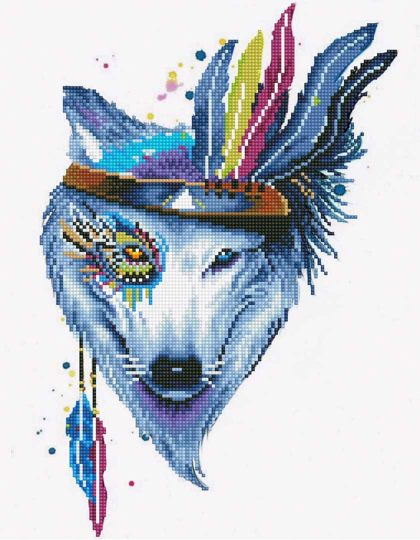 Набор для создания картины со стразами Цветной Собака-индеец, 40 х 50 см. LGP003 набор для создания картины из шерсти цветной единорог 20 x 30 см