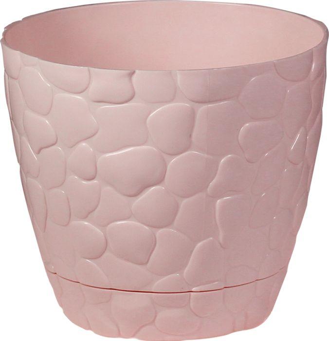 Кашпо Idea Камни, цвет: чайная роза, 1,4 л green garden кашпо teak s