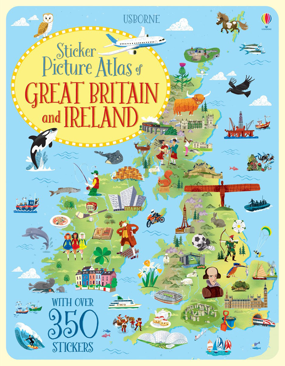 Sticker Picture Atlas of Britain and Ireland collins picture atlas