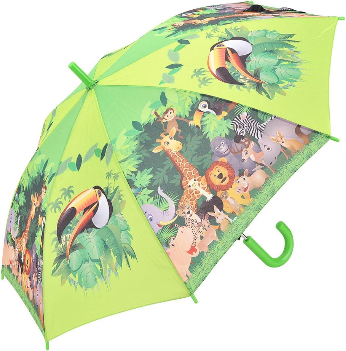 Зонт-трость детский Doppler, автомат, цвет: салатовый. 72759J зонт трость женский doppler цвет красный 714765l