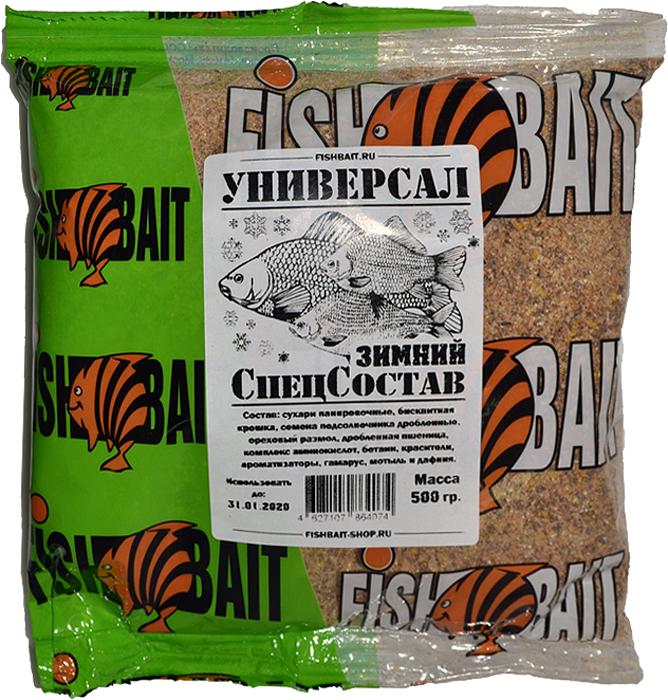 Прикормка для рыб FishBait СпецСостав, универсальная, зимняя, 0,5 кг