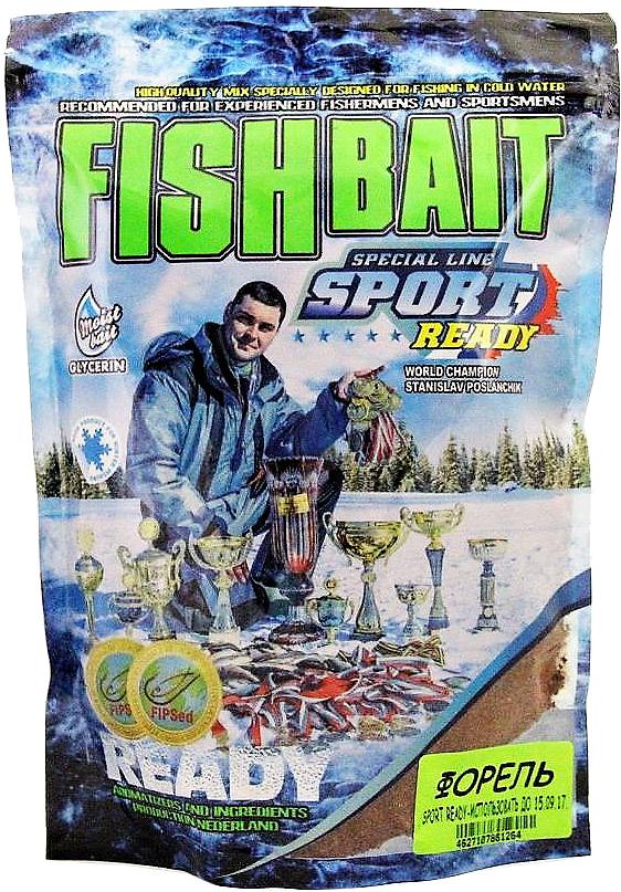 Прикормка для холодной воды FishBait Ready Sport. Форель, зимняя, 0,75 кг