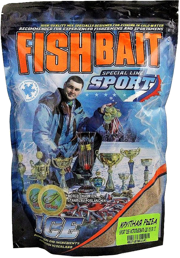 Прикормка для холодной воды FishBait Ice-Sport. Крупная рыба, зимняя, 0,75 кг