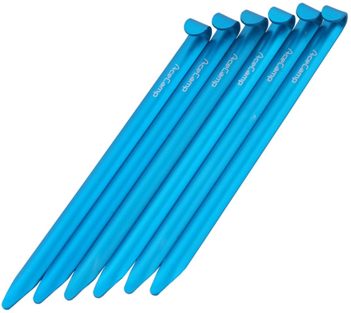 Набор колышков AceCamp, цвет: голубой, 6 шт