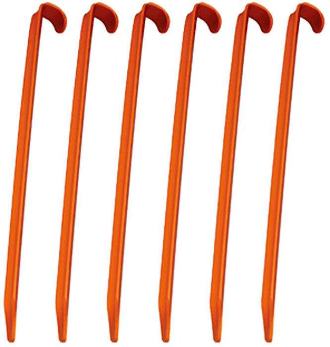 Набор колышков AceCamp, цвет: оранжевый, 6 шт