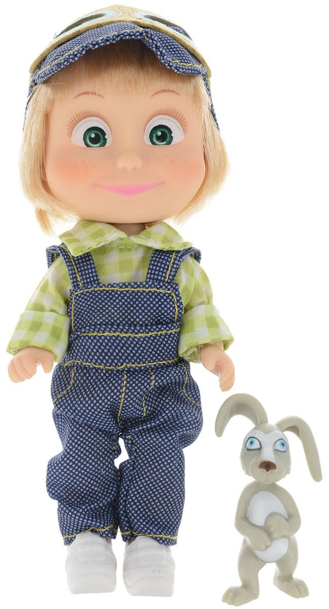Simba Мини-кукла Маша с зайчиком цвет одежды синий зеленый simba кукла маша с велосипедом маша и медведь simba