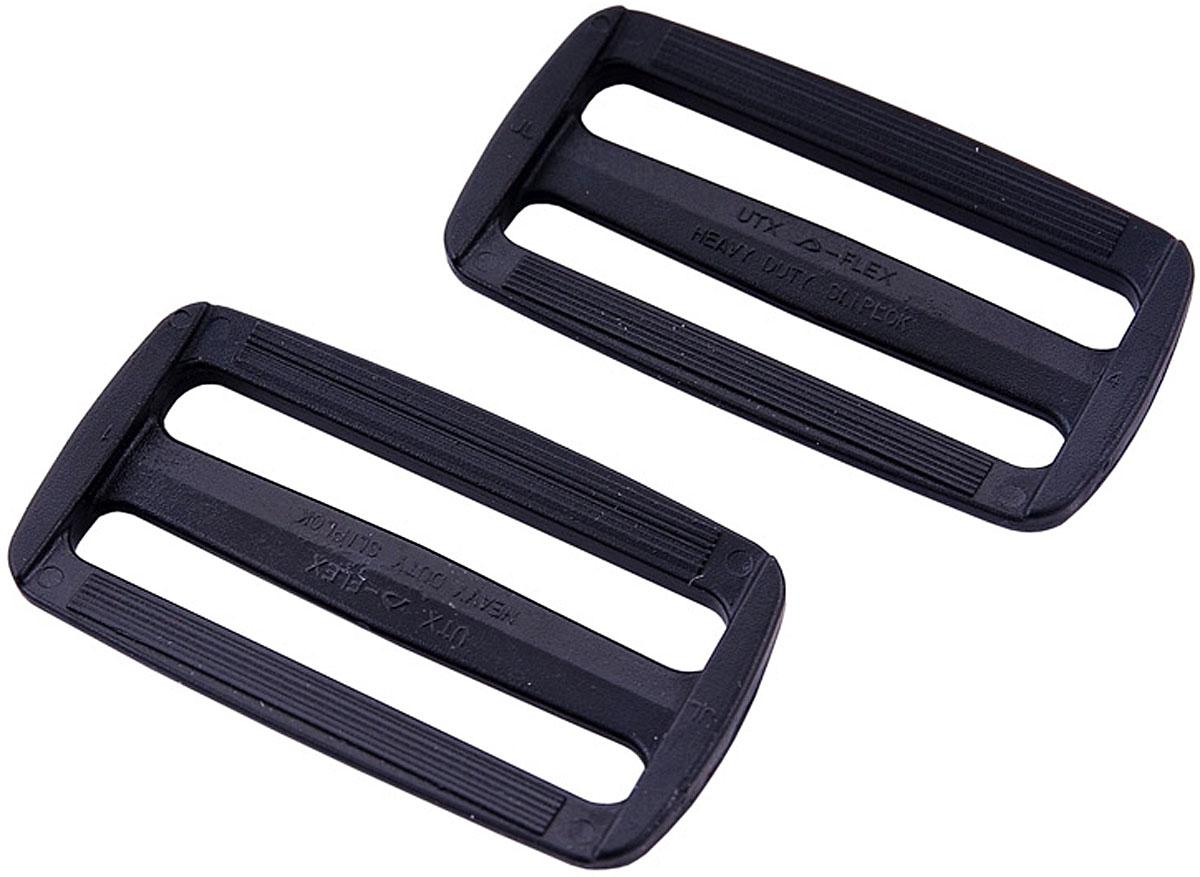 Пряжка AceCamp Duraflex, двухщелевая, цвет: черный, 2 шт. 7049 пряжка acecamp duraflex