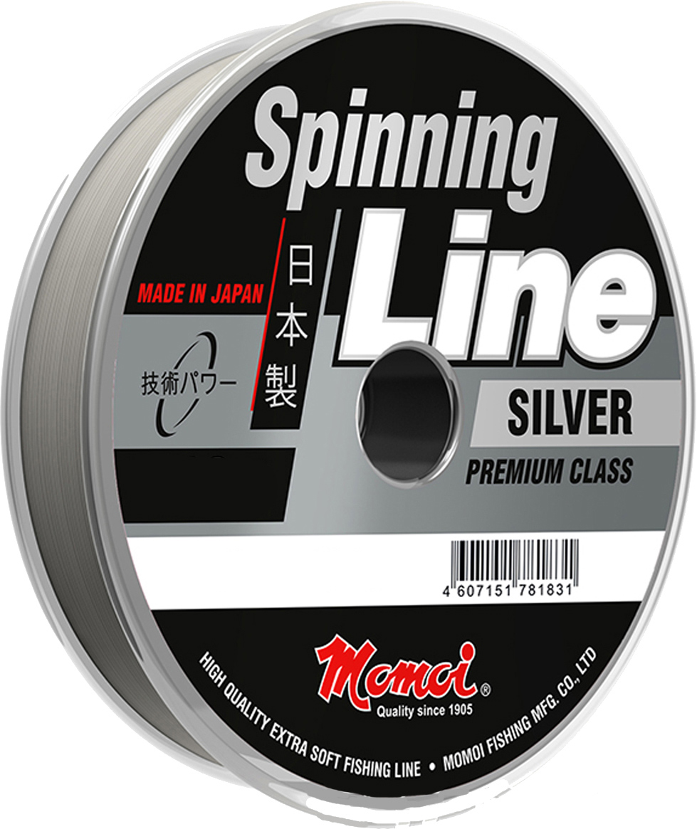 Леска Momoi Fishing Spinning Line Silver, 150 м, 0,25 мм, 7,0 кг