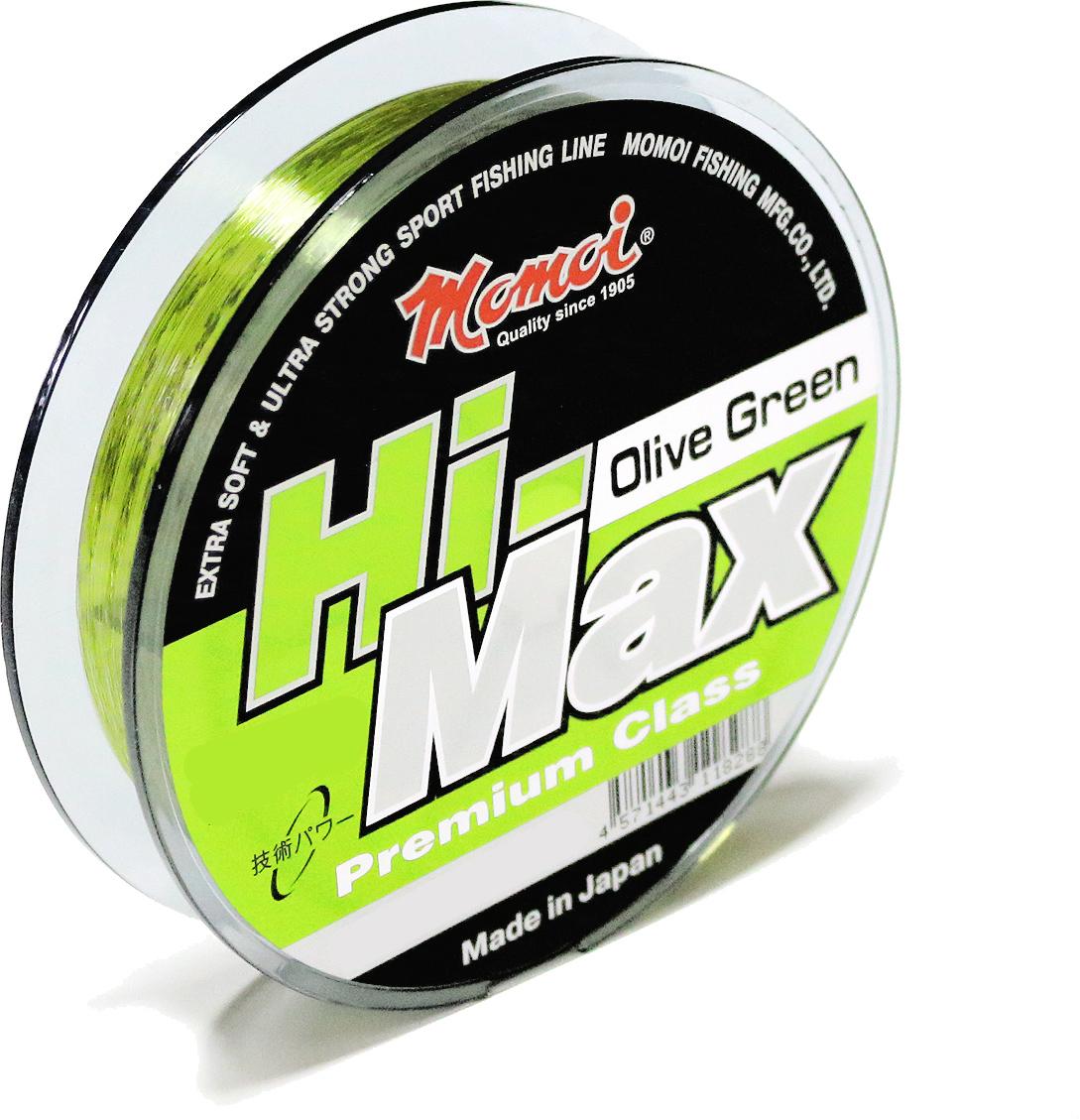 Леска Momoi Fishing Hi-Max Olive Green, 100 м, 0,27 мм, 7,5 кг