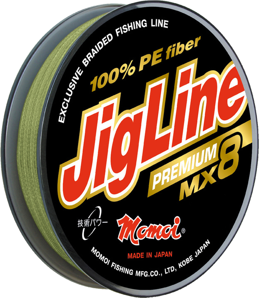 Шнур плетеный Momoi Fishing JigLine Premium WX8, 0,27 мм, 23 кг, 150 м