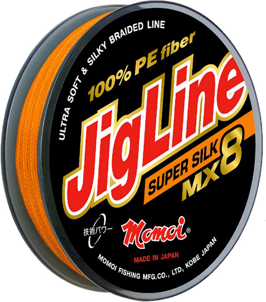 Шнур плетеный Momoi Fishing JigLine MX8 Super Silkr, 0,40 мм, 45 кг, 150 м шнур плетеный momoi fishing jigline premium wx8 0 27 мм 23 кг 100 м