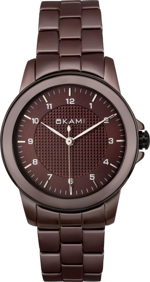 Часы наручные женские Okami, цвет: черный. K362CMM-01BCK362CMM-01BC;K362CMM-01BCЖенские наручные часы Okami с кварцевым механизмом идеально подойдут под любой образ. Крупная оригинальная модель на керамическом браслете. Такие часы украсят свою владелицу и подчеркнут ее неповторимость и индивидуальный стиль.