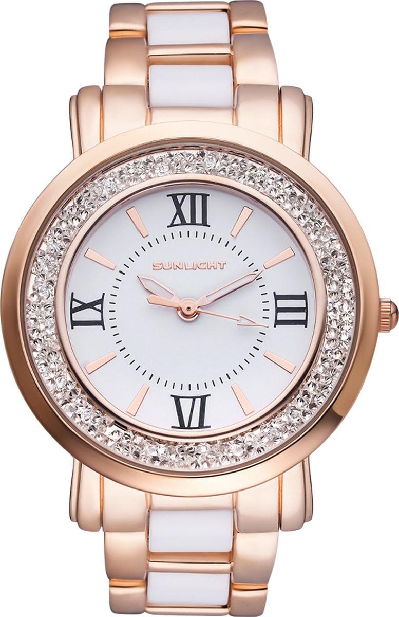 Часы наручные женские Sunlight, цвет: золотой, белый. S384ARW-01BC