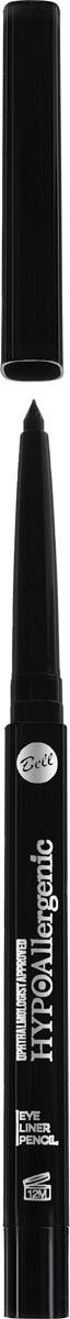 Bell Hypoallergenic Подводка для глаз, гипоаллергенная, в стике Eye Liner Pencil, Тон №10, 4 мл bell hypoallergenic корректор маскирующий гипоаллергенный в стике skin stick concealer тон 02 4мл