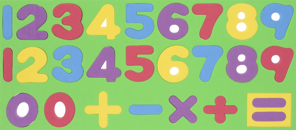 Kribly Boo Обучающая игра Набор магнитных цифр и знаков цвет салатовый