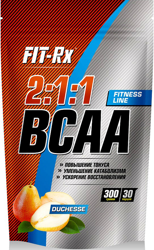 Концентрат напитка сухой FIT-Rx BCAA 2:1:1, со вкусом дюшес, 300 г комплекс аминокислот fit rx bcaa 2 1 1 фруктовый пунш 300 г
