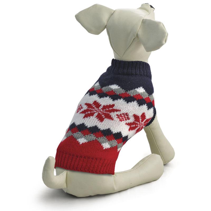 """Свитер для собак Tirol """"Винтаж"""", унисекс, цвет: красный, черный. Размер S"""