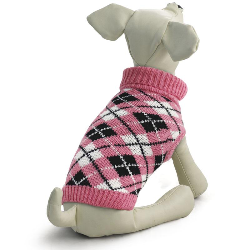 """Свитер для собак Tirol """"Классика"""", для девочки, цвет: розовый. Размер XS"""