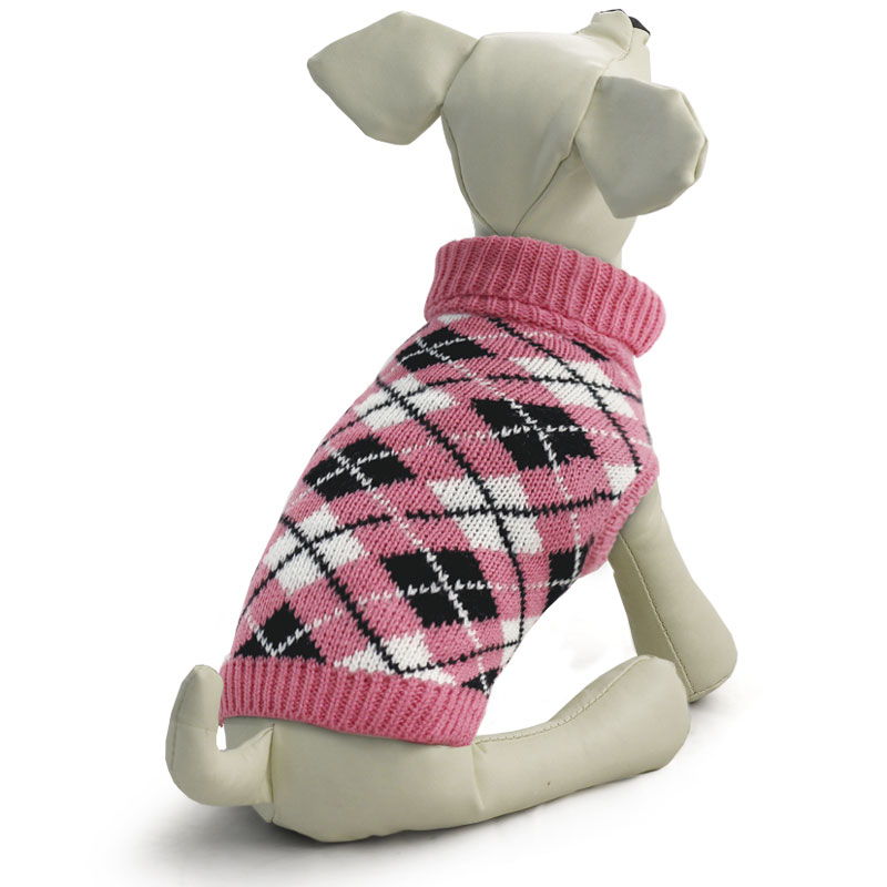 """Свитер для собак Triol """"Классика"""", для девочки, цвет: розовый. Размер L"""