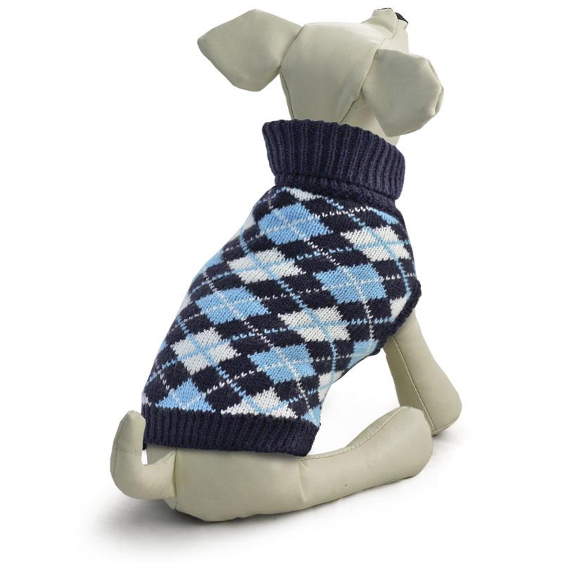 """Свитер для собак Triol """"Классика"""", унисекс, цвет: темно-синий. Размер L"""