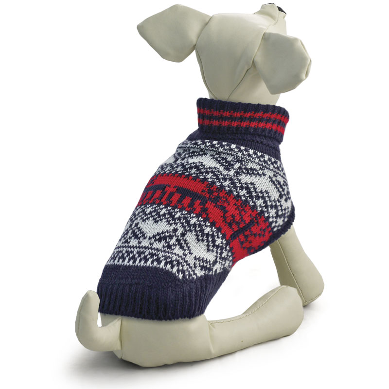 """Свитер для собак Tirol """"Орнамент"""", унисекс, цвет: черный, белый. Размер M"""