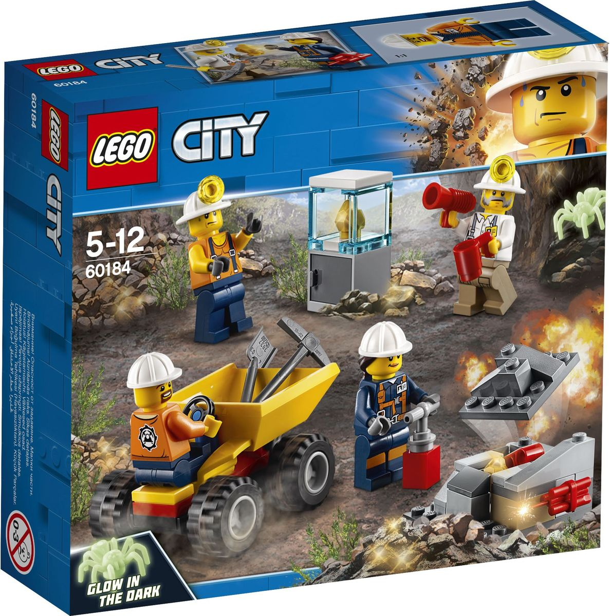 LEGO City Mining 60184 Бригада шахтеров Конструктор конструктор lego city mining 60184 бригада шахтеров
