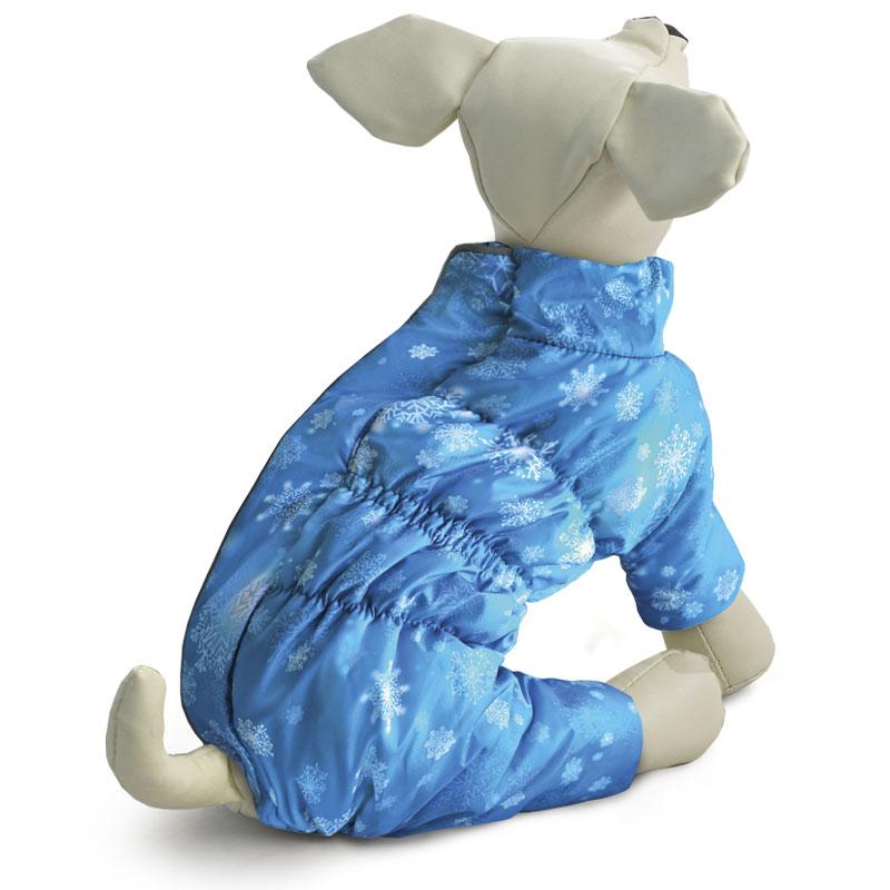 Комбинезон для собак Gamma Нимбус, зимний, для мальчика. Размер L12212090Теплый зимний комбинезон на синтепоне с оригинальным принтом изготовлен из мягкого флиса с комбинацией современной курточной ткани Дюспо 240 PU, которая эффективно отталкивает влагу, не пропускает ветер, не боится сильных морозов и ярких солнечных лучей. Комбинезон выполнен с учетом анатомических особенностей тела собаки, имеет специальные вставки из резинок, что позволяет изделию плотно сидеть на собаке, а также декорирован функциональным светоотражающим элементом. Обхват груди: 46 см. Длина спины: 36 см. Одежда для собак: нужна ли она и как её выбрать. Статья OZON Гид