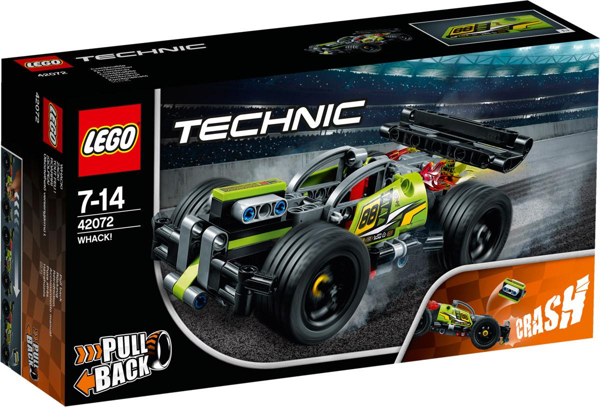 LEGO Technic 42072 Гоночный автомобиль цвет зеленый Конструктор конструктор lego technic гоночный автомобиль 42077